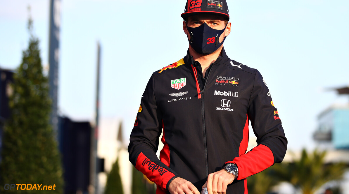ISTANBUL, TURKEY - NOVEMBER 12: Max Verstappen of Netherlands and Red Bull Racing walks in the Paddock during previews ahead of the F1 Grand Prix of Turkey at Intercity Istanbul Park on November 12, 2020 in Istanbul, Turkey. (Photo by Bryn Lennon/Getty Images) // Getty Images / Red Bull Content Pool  // SI202011120389 // Usage for editorial use only //  F1 Grand Prix of Turkey - Previews     SI202011120389