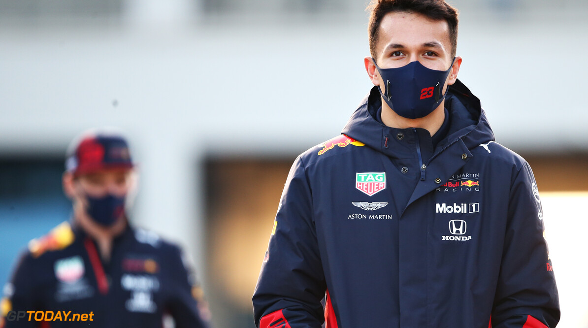ISTANBUL, TURKEY - NOVEMBER 12: Alexander Albon of Thailand and Red Bull Racing walks in the Paddock during previews ahead of the F1 Grand Prix of Turkey at Intercity Istanbul Park on November 12, 2020 in Istanbul, Turkey. (Photo by Bryn Lennon/Getty Images) // Getty Images / Red Bull Content Pool  // SI202011120411 // Usage for editorial use only //  F1 Grand Prix of Turkey - Previews     SI202011120411