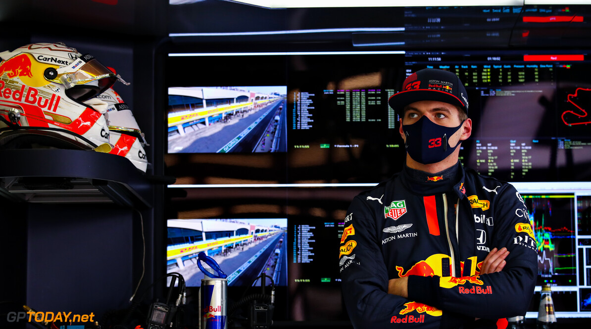 ISTANBUL, TURKEY - NOVEMBER 13: Max Verstappen of Netherlands and Red Bull Racing prepares to drive in the garage during practice ahead of the F1 Grand Prix of Turkey at Intercity Istanbul Park on November 13, 2020 in Istanbul, Turkey. (Photo by Bryn Lennon/Getty Images) // Getty Images / Red Bull Content Pool  // SI202011130093 // Usage for editorial use only //  F1 Grand Prix of Turkey - Practice     SI202011130093
