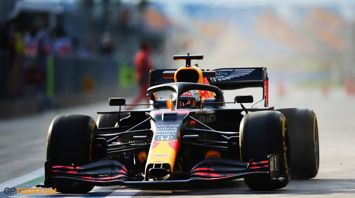ISTANBUL, TURKEY - NOVEMBER 13: Max Verstappen of the Netherlands driving the (33) Aston Martin Red Bull Racing RB16 in the Pitlane during practice ahead of the F1 Grand Prix of Turkey at Intercity Istanbul Park on November 13, 2020 in Istanbul, Turkey. (Photo by Peter Fox/Getty Images) // Getty Images / Red Bull Content Pool  // SI202011130348 // Usage for editorial use only //  F1 Grand Prix of Turkey - Practice     SI202011130348