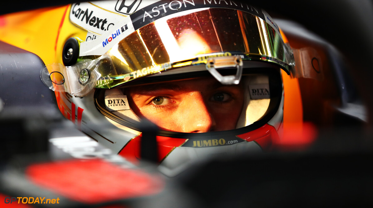 ISTANBUL, TURKEY - NOVEMBER 13: Max Verstappen of Netherlands and Red Bull Racing prepares to drive in the garage during practice ahead of the F1 Grand Prix of Turkey at Intercity Istanbul Park on November 13, 2020 in Istanbul, Turkey. (Photo by Bryn Lennon/Getty Images) // Getty Images / Red Bull Content Pool  // SI202011130436 // Usage for editorial use only //  F1 Grand Prix of Turkey - Practice     SI202011130436