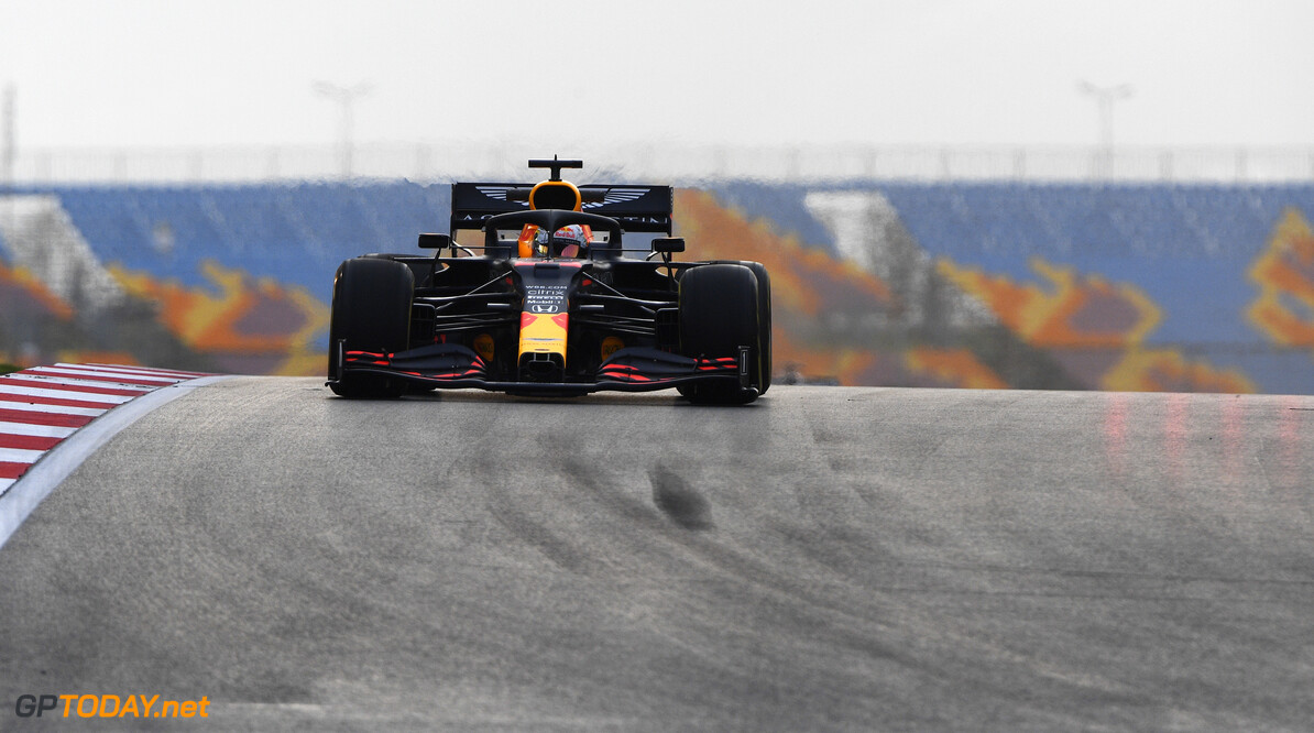 ISTANBUL, TURKEY - NOVEMBER 13: Max Verstappen of the Netherlands driving the (33) Aston Martin Red Bull Racing RB16 on track during practice ahead of the F1 Grand Prix of Turkey at Intercity Istanbul Park on November 13, 2020 in Istanbul, Turkey. (Photo by Rudy Carezzevoli/Getty Images) // Getty Images / Red Bull Content Pool  // SI202011130402 // Usage for editorial use only //  F1 Grand Prix of Turkey - Practice     SI202011130402