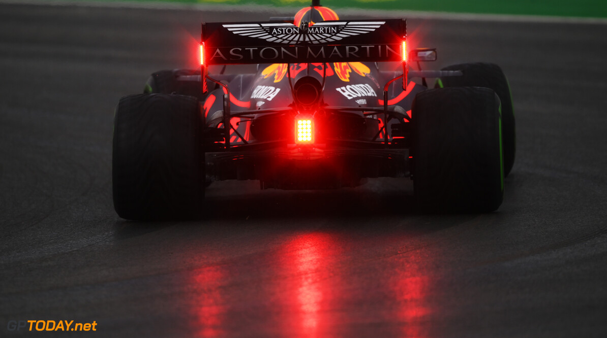 ISTANBUL, TURKEY - NOVEMBER 14: Max Verstappen of the Netherlands driving the (33) Aston Martin Red Bull Racing RB16 on track during final practice ahead of the F1 Grand Prix of Turkey at Intercity Istanbul Park on November 14, 2020 in Istanbul, Turkey. (Photo by Clive Mason/Getty Images) // Getty Images / Red Bull Content Pool  // SI202011140045 // Usage for editorial use only //  F1 Grand Prix of Turkey - Final Practice     SI202011140045