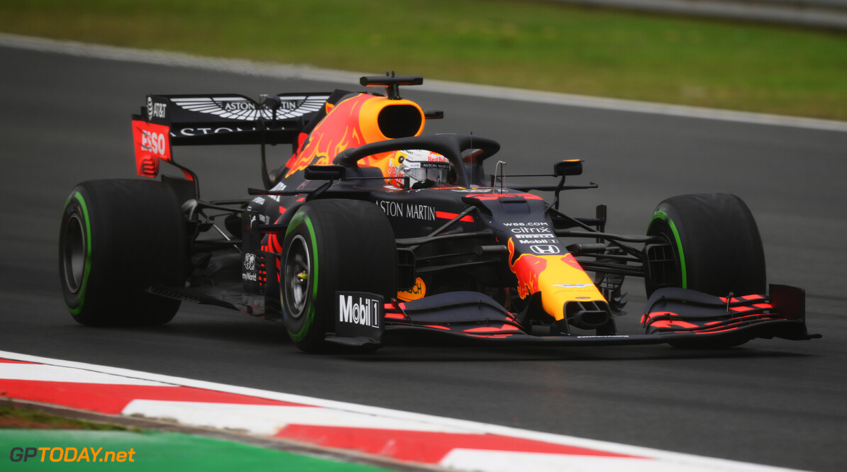 ISTANBUL, TURKEY - NOVEMBER 14: Max Verstappen of the Netherlands driving the (33) Aston Martin Red Bull Racing RB16 on track during final practice ahead of the F1 Grand Prix of Turkey at Intercity Istanbul Park on November 14, 2020 in Istanbul, Turkey. (Photo by Clive Mason/Getty Images) // Getty Images / Red Bull Content Pool  // SI202011140105 // Usage for editorial use only //  F1 Grand Prix of Turkey - Final Practice     SI202011140105