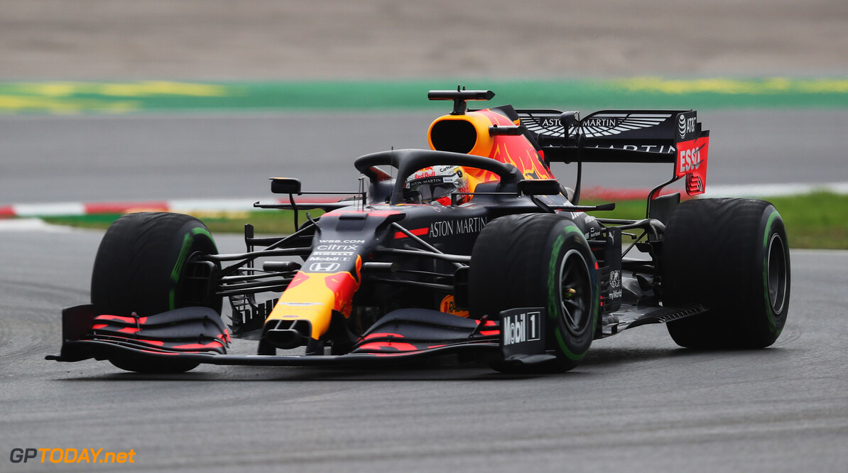 ISTANBUL, TURKEY - NOVEMBER 14: Max Verstappen of the Netherlands driving the (33) Aston Martin Red Bull Racing RB16 on track during final practice ahead of the F1 Grand Prix of Turkey at Intercity Istanbul Park on November 14, 2020 in Istanbul, Turkey. (Photo by Tolga Bozoglu - Pool/Getty Images) // Getty Images / Red Bull Content Pool  // SI202011140130 // Usage for editorial use only //  F1 Grand Prix of Turkey - Final Practice     SI202011140130