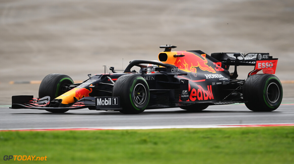 ISTANBUL, TURKEY - NOVEMBER 14: Max Verstappen of the Netherlands driving the (33) Aston Martin Red Bull Racing RB16 on track during final practice ahead of the F1 Grand Prix of Turkey at Intercity Istanbul Park on November 14, 2020 in Istanbul, Turkey. (Photo by Ozan Kose - Pool/Getty Images) // Getty Images / Red Bull Content Pool  // SI202011140128 // Usage for editorial use only //  F1 Grand Prix of Turkey - Final Practice     SI202011140128