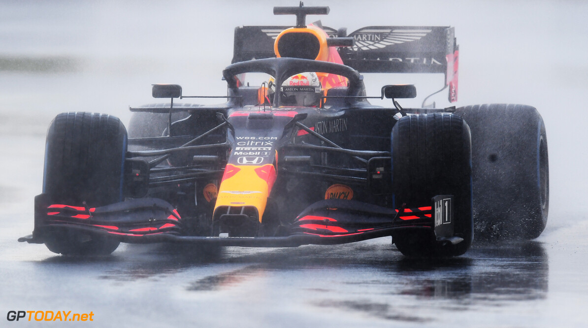 ISTANBUL, TURKEY - NOVEMBER 14: Max Verstappen of the Netherlands driving the (33) Aston Martin Red Bull Racing RB16 on track during qualifying ahead of the F1 Grand Prix of Turkey at Intercity Istanbul Park on November 14, 2020 in Istanbul, Turkey. (Photo by Clive Mason/Getty Images) // Getty Images / Red Bull Content Pool  // SI202011140182 // Usage for editorial use only //  F1 Grand Prix of Turkey - Qualifying     SI202011140182