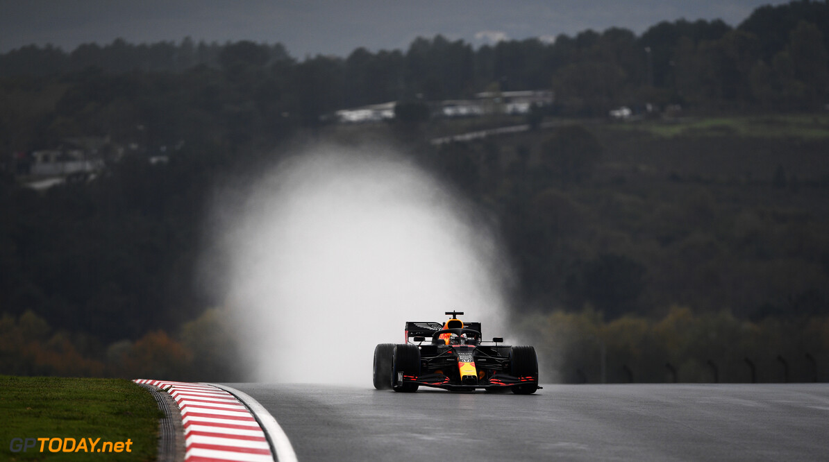 ISTANBUL, TURKEY - NOVEMBER 14: Max Verstappen of the Netherlands driving the (33) Aston Martin Red Bull Racing RB16 on track during qualifying ahead of the F1 Grand Prix of Turkey at Intercity Istanbul Park on November 14, 2020 in Istanbul, Turkey. (Photo by Rudy Carezzevoli/Getty Images) // Getty Images / Red Bull Content Pool  // SI202011140180 // Usage for editorial use only //  F1 Grand Prix of Turkey - Qualifying     SI202011140180