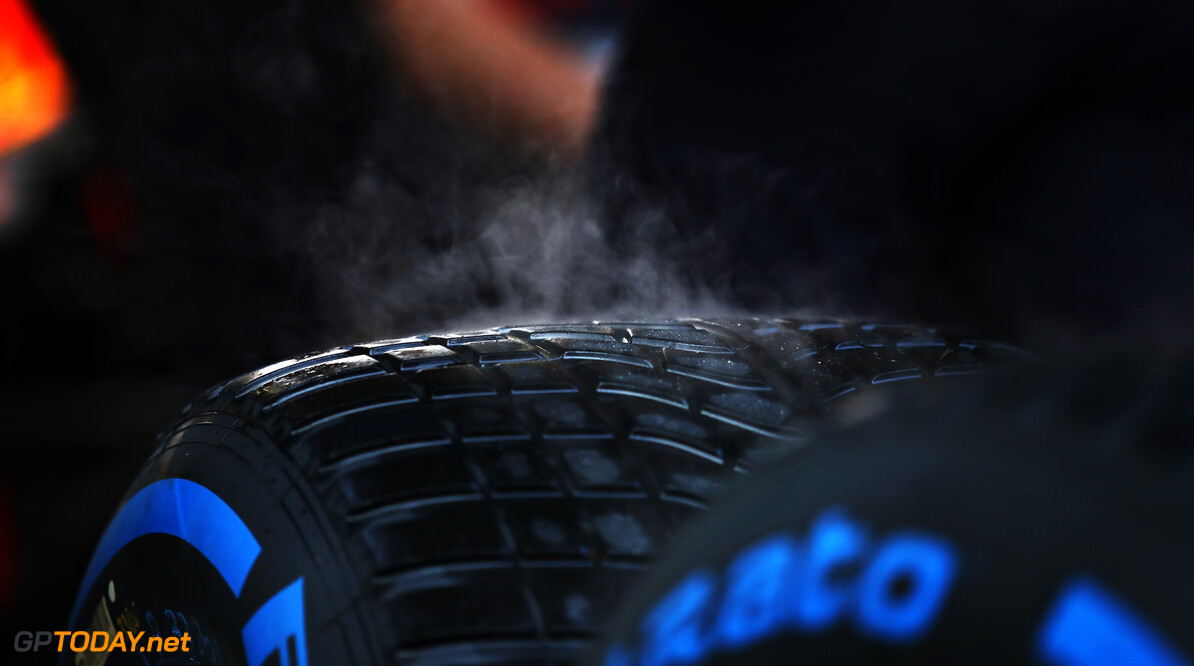 ISTANBUL, TURKEY - NOVEMBER 14: Smoke pours off wet tyres in the Red Bull Racing garage during qualifying ahead of the F1 Grand Prix of Turkey at Intercity Istanbul Park on November 14, 2020 in Istanbul, Turkey. (Photo by Bryn Lennon/Getty Images) // Getty Images / Red Bull Content Pool  // SI202011140194 // Usage for editorial use only //  F1 Grand Prix of Turkey - Qualifying     SI202011140194