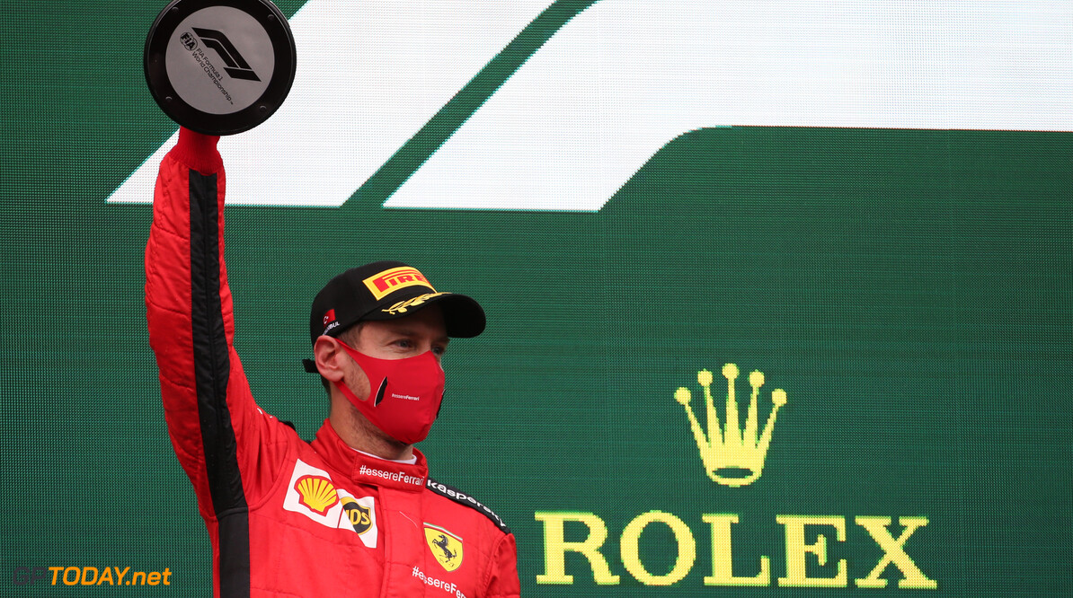 """<b>Video:</b> Vettel's teamradio na de race: """"Wat vond je van mijn eerste ronde?"""""""