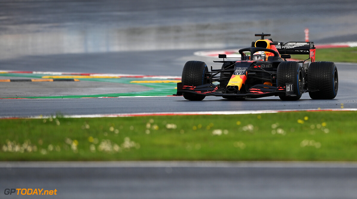 ISTANBUL, TURKEY - NOVEMBER 15: Max Verstappen of the Netherlands driving the (33) Aston Martin Red Bull Racing RB16 on track during the F1 Grand Prix of Turkey at Intercity Istanbul Park on November 15, 2020 in Istanbul, Turkey. (Photo by Ozan Kose - Pool/Getty Images) // Getty Images / Red Bull Content Pool  // SI202011150116 // Usage for editorial use only //  F1 Grand Prix of Turkey     SI202011150116