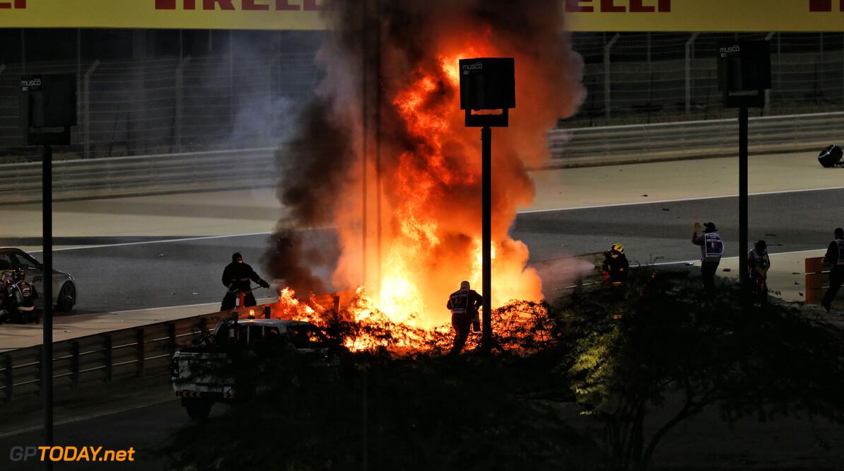 <b>Video:</b> Reconstructie van horrorcrash Romain Grosjean in Bahrein