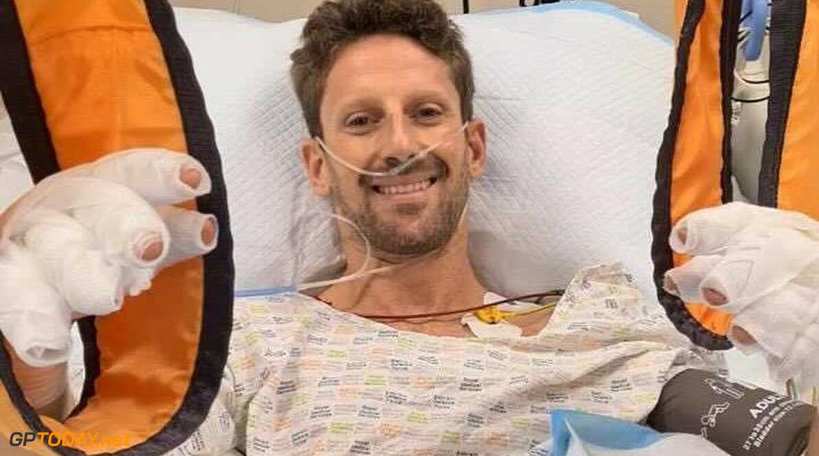 Romain Grosjean dolblij na verlaten van ziekenhuis en goed nieuws