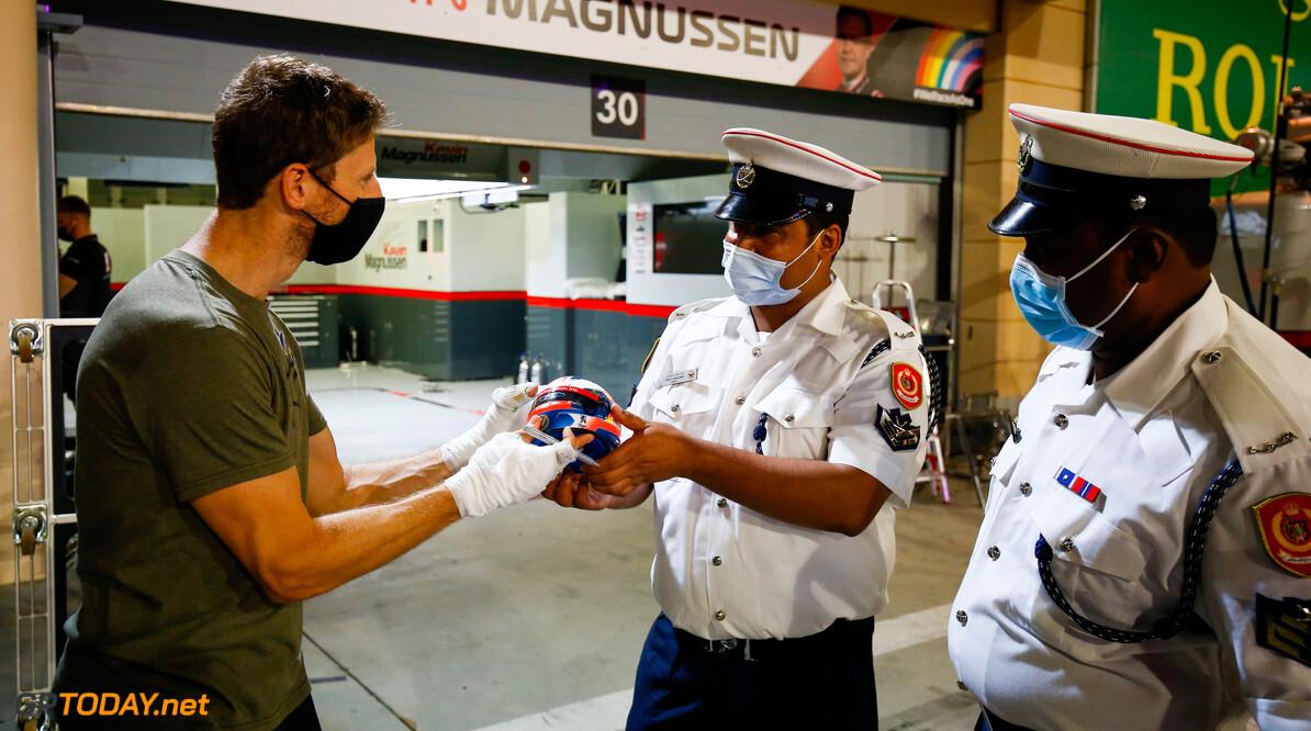 <b>Video:</b> Romain Grosjean bedankt zijn helden