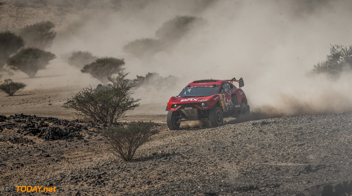 S?? 1/2 bastien Loeb (FRA) for Bahrain Raid XTreme races during stage 4 of Rally Dakar 2021 from Wadi Ad-Dawasir to Riyadh, Saudi Arabia on January 6, 2021. // Flavien Duhamel/Red Bull Content Pool // SI202101060164 // Usage for editorial use only //  S?? 1/2 bastien Loeb     SI202101060164