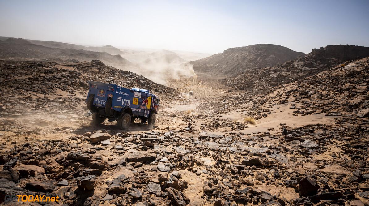 Andrey Karginov (RUS) of Team KAMAZ-Master races during stage 03 of Rally Dakar2021 from Wadi Ad Dawasir to Wadi Ad Dawasir, Saudi Arabia on January 5, 2021 // Marcelo Maragni/Red Bull Content Pool // SI202101050043 // Usage for editorial use only //  Andrey Karginov     SI202101050043