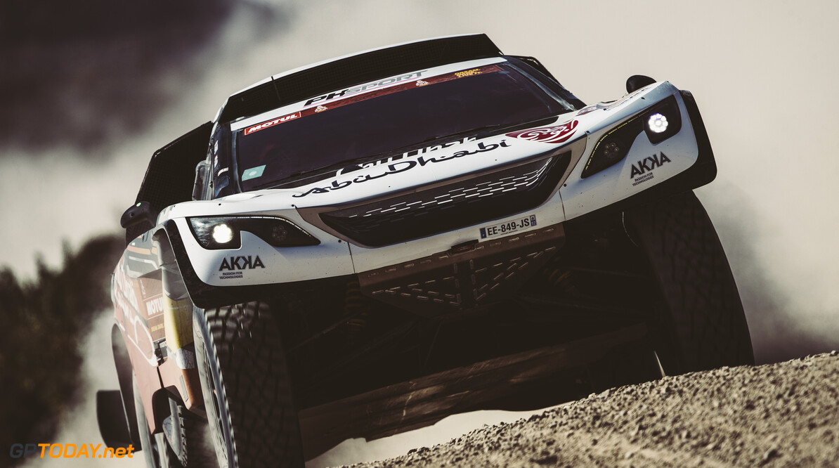 Cyril Despres (FRA) for Abu Dhabi Racing Team races during stage 1 of Rally Dakar 2021 from Jeddah to Bisha, Saudi Arabia on January 3, 2021. // Flavien Duhamel/Red Bull Content Pool // SI202101030018 // Usage for editorial use only //  Cyril Despres     SI202101030018