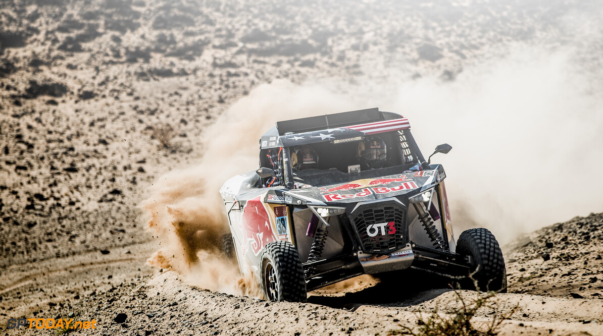 Mitchell Guthrie (USA) for RedBull off-road team USA races during stage 4 of Rally Dakar 2021 from Wadi Ad-Dawasir to Riyadh, Saudi Arabia on January 6, 2021. // Flavien Duhamel/Red Bull Content Pool // SI202101060154 // Usage for editorial use only //  Mitchell Guthrie     SI202101060154