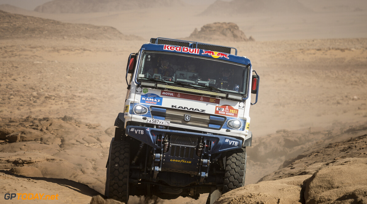 Dmitry Sotnikov (RUS) of Team KAMAZ-Master races during stage 3 of Rally Dakar2021 from Wadi Ad Dawasir to Wadi Ad Dawasir, Saudi Arabia on January 5, 2021 // Marcelo Maragni/Red Bull Content Pool // SI202101050078 // Usage for editorial use only //  Dmitry Sotnikov     SI202101050078