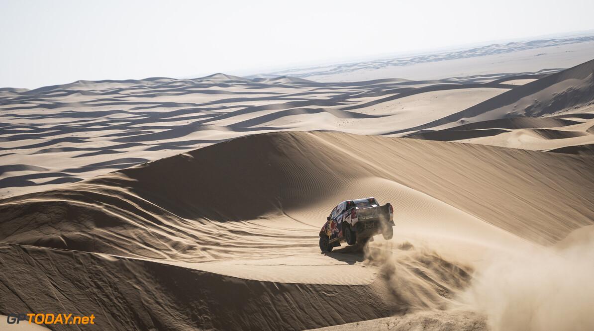 Nasser Al-Attiyah (QAT) of Toyota Gazoo Racing races during stage 02 of Rally Dakar2021 from Bisha to Wadi Ad Dewasir, Saudi Arabia on January 04, 2021 // Marcelo Maragni/Red Bull Content Pool // SI202101040048 // Usage for editorial use only //  Nasser Al-Attiyah     SI202101040048
