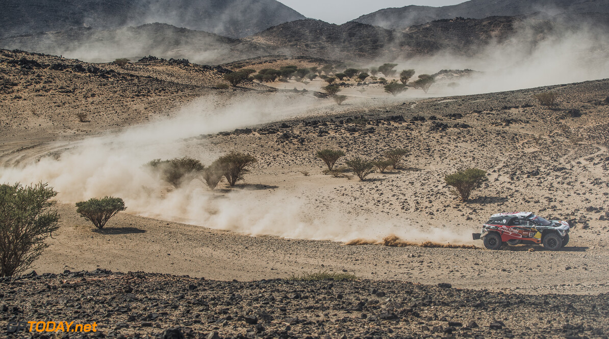 Cyril Despres (FRA) for Abu Dhabi Racing Team races during stage 4 of Rally Dakar 2021 from Wadi Ad-Dawasir to Riyadh, Saudi Arabia on January 6, 2021. // Flavien Duhamel/Red Bull Content Pool // SI202101060136 // Usage for editorial use only //  Cyril Despres     SI202101060136