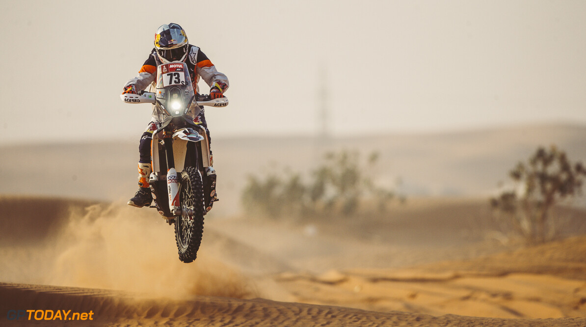 Mohammed Jaffar (KWT) for Duust Rally Team races during stage 5 of Rally Dakar 2021 from Riyadh to Buraydah, Saudi Arabia on January 07, 2021. // Flavien Duhamel/Red Bull Content Pool // SI202101070146 // Usage for editorial use only //  Mohammed Jaffar     SI202101070146