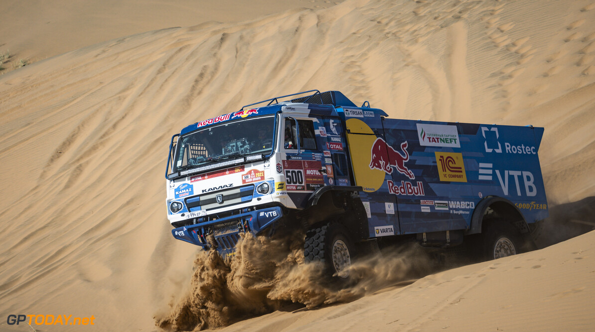 Andrey Karginov (RUS) of Team KAMAZ-Master races during stage 02 of Rally Dakar2021 from Bisha to Wadi Ad Dewasir, Saudi Arabia on January 04, 2021 // Marcelo Maragni/Red Bull Content Pool // SI202101040056 // Usage for editorial use only //  Andrey Karginov     SI202101040056