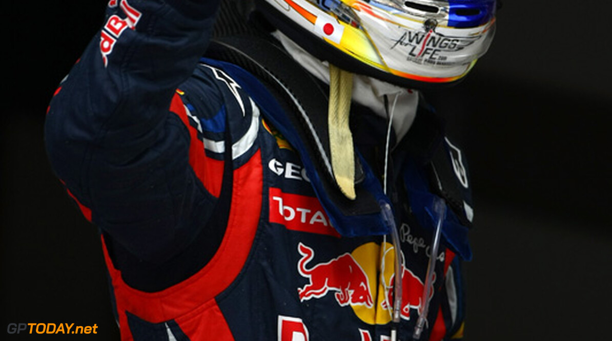 2011 Chinese Grand Prix - Saturday Shanghai International Circuit, Shanghai, China 16th April 2011 Sebastian Vettel (GER), Red Bull Racing World Copyright: Andrew Hone / Formula Press / LAT Photographic