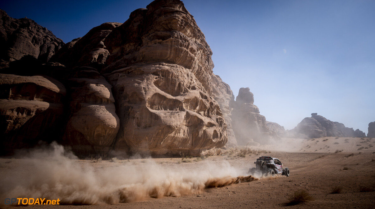 Francisco Lopez Contardo (CHL) for South Racing Can-Am team races during stage 8 of Rally Dakar 2021 from  Sakaka to Neom, Saudi Arabia on January 11, 2021. // Marcelo Maragni/Red Bull Content Pool // SI202101110216 // Usage for editorial use only //  Francisco L?? 1/2 pez Contardo     SI202101110216