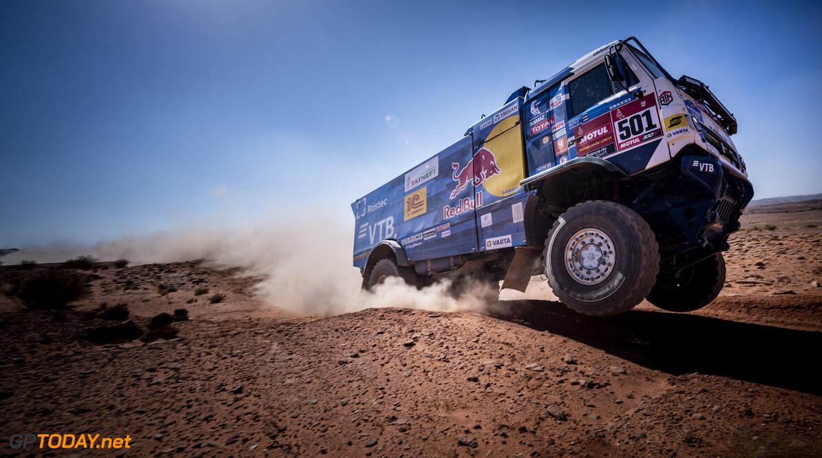 Anton Shibalov of Team KAMAZ-Master races during stage 09 of Rally Dakar2021 from Neom to Neom, Saudi Arabia on January 12, 2021 // Marcelo Maragni/Red Bull Content Pool // SI202101120096 // Usage for editorial use only //  Anton Shibalov     SI202101120096