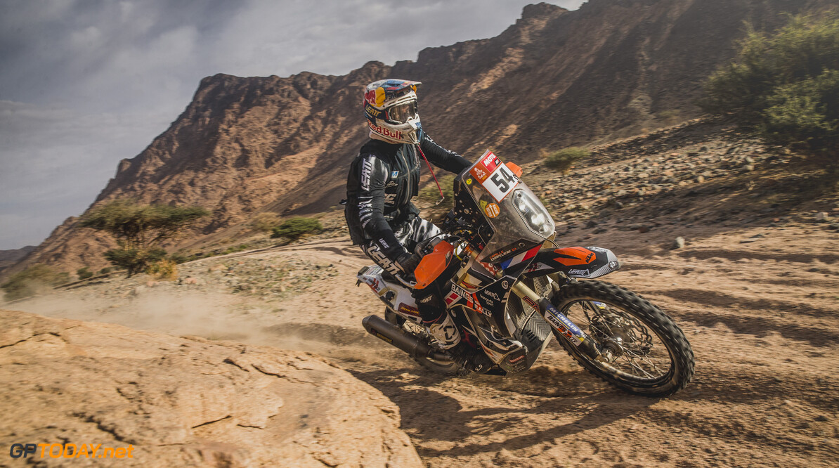 Camille Chapeliere for Team Baines Rally races during stage 11 of Rally Dakar 2021 from Alula to Yanbu, Saudi Arabia on January 14, 2021. // Flavien Duhamel/Red Bull Content Pool // SI202101140058 // Usage for editorial use only //  Camille Chapeliere     SI202101140058