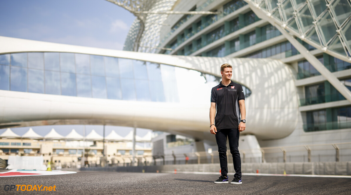 2020 Abu Dhabi GP YAS MARINA CIRCUIT, UNITED ARAB EMIRATES - DECEMBER 09: Mick Schumacher, Haas F1 during the Abu Dhabi GP at Yas Marina Circuit on Wednesday December 09, 2020 in Abu Dhabi, United Arab Emirates. (Photo by Andy Hone / LAT Images) 2020 Abu Dhabi GP Andy Hone Yas Island United Arab Emirates  atmosphere portrait