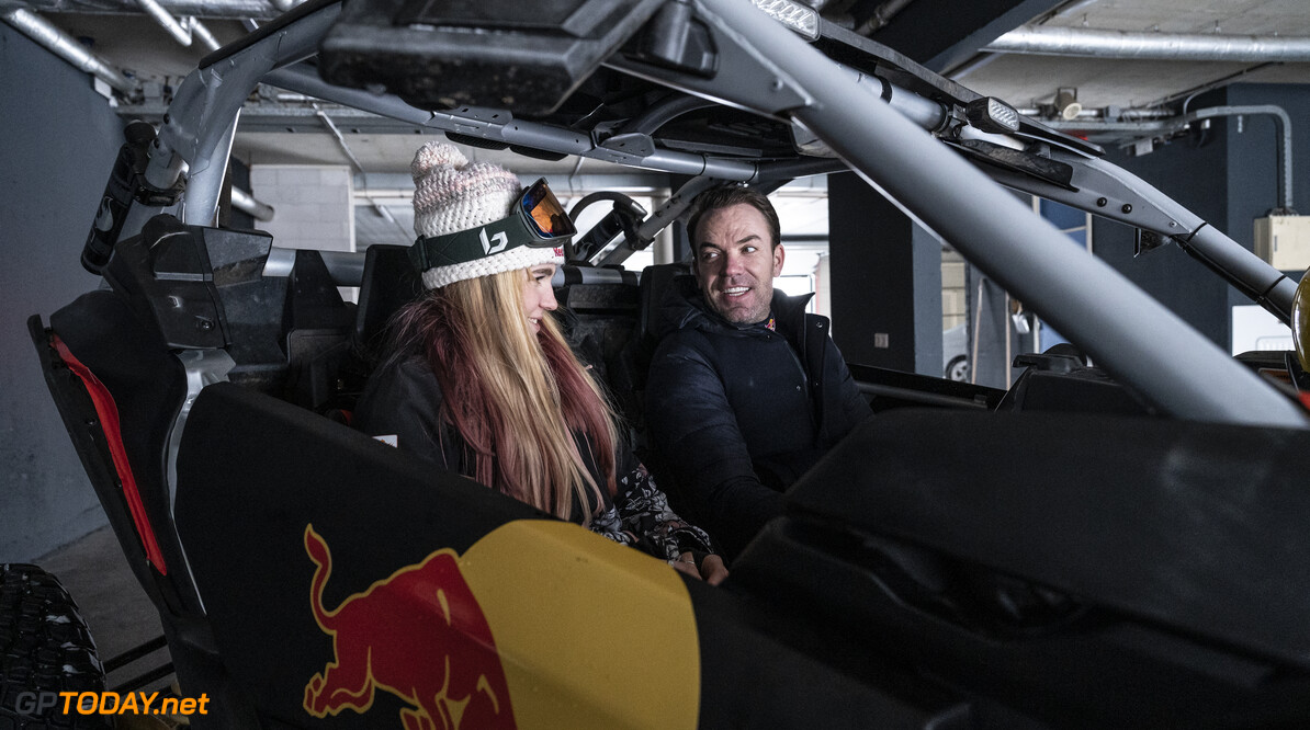 Melissa Peperkamp and Robert Doornbos in action at the circuit in Zandvoort, The Netherlands on February 8, 2021. // Jarno Schurgers/Red Bull Content Pool // SI202102080204 // Usage for editorial use only //  Melissa Peperkamp     SI202102080204