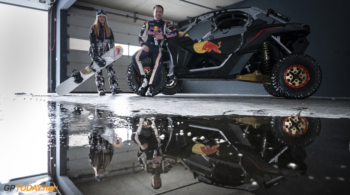 Melissa Peperkamp and Robert Doorbos pose for a portrait at the circuit in Zandvoort, The Netherlands on February 8, 2021. // Jarno Schurgers/Red Bull Content Pool // SI202102080187 // Usage for editorial use only //  Melissa Peperkamp     SI202102080187