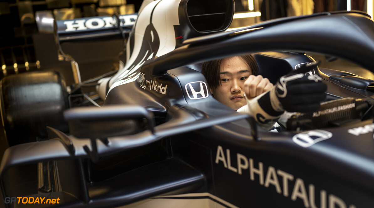 Yuki Tsunoda of Japan seen during the Suderia AlphaTauri AT02 Livery Reveal 2021 - Fashion meets Formula 1 in Salzburg, Austria on February 15, 2021. // Joerg Mitter / Red Bull Content Pool // SI202102180148 // Usage for editorial use only //  Yuki Tsunoda     SI202102180148