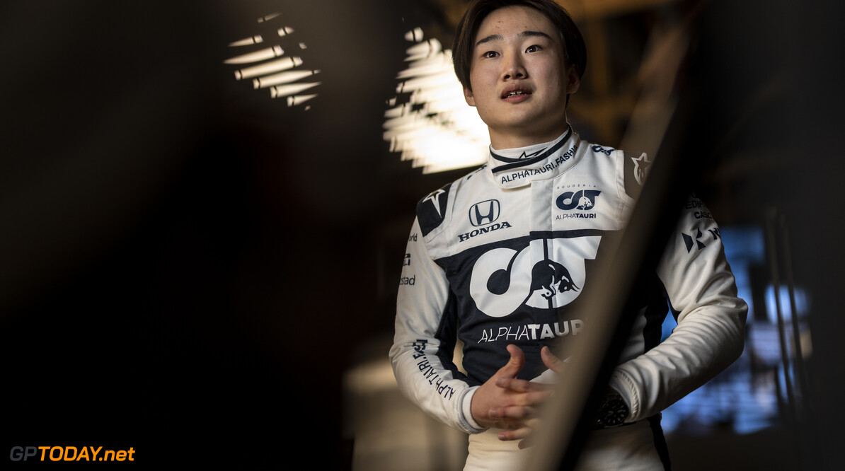 Yuki Tsunoda of Japan seen during the Suderia AlphaTauri AT02 Livery Reveal 2021 - Fashion meets Formula 1 in Salzburg, Austria on February 15, 2021. // Joerg Mitter / Red Bull Content Pool // SI202102180136 // Usage for editorial use only //  Yuki Tsunoda     SI202102180136
