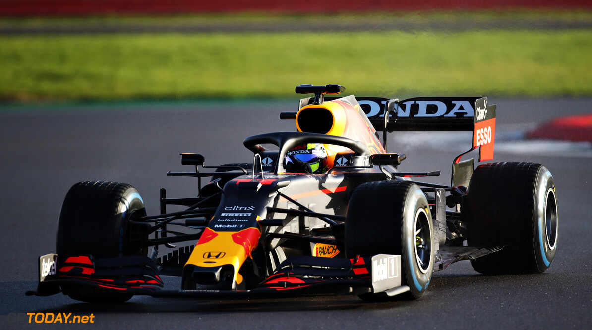 NORTHAMPTON, ENGLAND - FEBRUARY 23: Sergio Perez of Mexico driving the (11) Red Bull Racing RB15 Honda at Silverstone on February 23, 2021 in Northampton, England. (Photo by Bryn Lennon/Getty Images for Red Bull Racing) // Getty Images / Red Bull Content Pool  // SI202102230138 // Usage for editorial use only //  Red Bull Racing Filming Day     SI202102230138