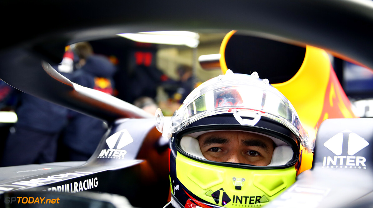 NORTHAMPTON, ENGLAND - FEBRUARY 22: Sergio Perez of Mexico and Red Bull Racing prepares to drive in the garage during the Red Bull Racing filming day at Silverstone on February 22, 2021 in Northampton, England. (Photo by Mark Thompson/Getty Images for Red Bull Racing) // Getty Images / Red Bull Content Pool  // SI202102230115 // Usage for editorial use only //  Red Bull Racing Filming Day     SI202102230115