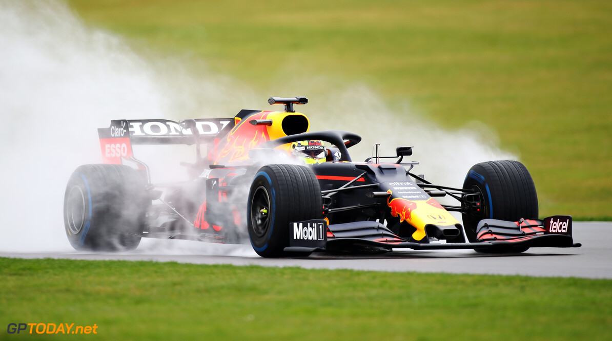 NORTHAMPTON, ENGLAND - FEBRUARY 22: Sergio Perez of Mexico driving the (11) Red Bull Racing RB15 Honda at Silverstone on February 22, 2021 in Northampton, England. (Photo by Bryn Lennon/Getty Images for Red Bull Racing) // Getty Images / Red Bull Content Pool  // SI202102230125 // Usage for editorial use only //  Red Bull Racing Filming Day     SI202102230125