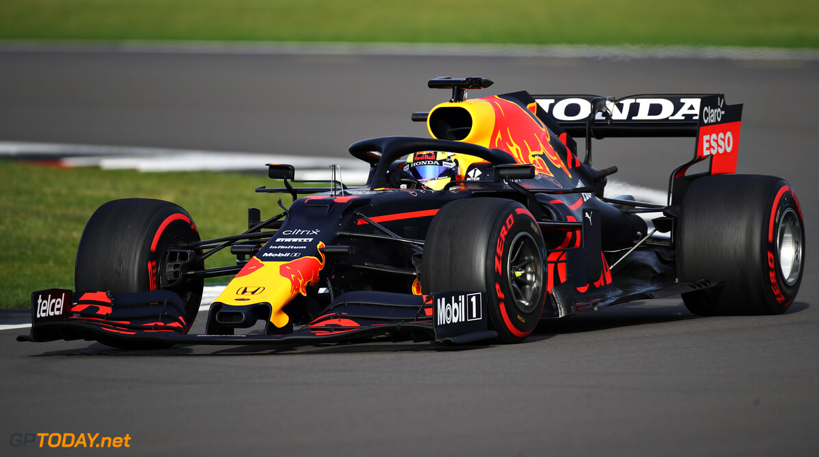 NORTHAMPTON, ENGLAND - FEBRUARY 23: Sergio Perez of Mexico driving the (11) Red Bull Racing RB15 Honda at Silverstone on February 23, 2021 in Northampton, England. (Photo by Bryn Lennon/Getty Images for Red Bull Racing) // Getty Images / Red Bull Content Pool  // SI202102230146 // Usage for editorial use only //  Red Bull Racing Filming Day     SI202102230146