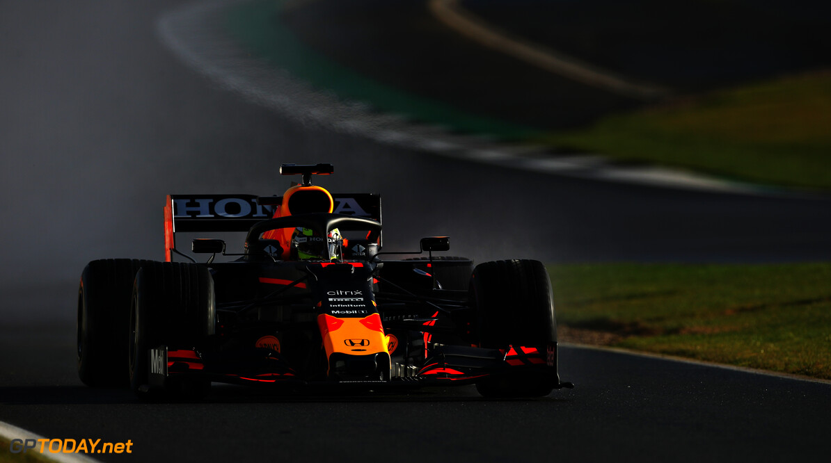 NORTHAMPTON, ENGLAND - FEBRUARY 22: Sergio Perez of Mexico driving the (11) Red Bull Racing RB15 Honda at Silverstone on February 22, 2021 in Northampton, England. (Photo by Bryn Lennon/Getty Images for Red Bull Racing) // Getty Images / Red Bull Content Pool  // SI202102230169 // Usage for editorial use only //  Red Bull Racing Filming Day     SI202102230169
