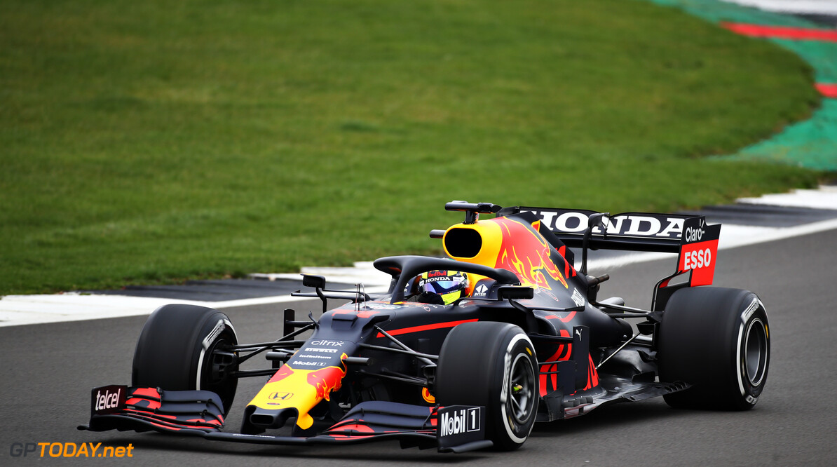 NORTHAMPTON, ENGLAND - FEBRUARY 23: Sergio Perez of Mexico driving the (11) Red Bull Racing RB15 Honda at Silverstone on February 23, 2021 in Northampton, England. (Photo by Bryn Lennon/Getty Images for Red Bull Racing) // Getty Images / Red Bull Content Pool  // SI202102230137 // Usage for editorial use only //  Red Bull Racing Filming Day     SI202102230137