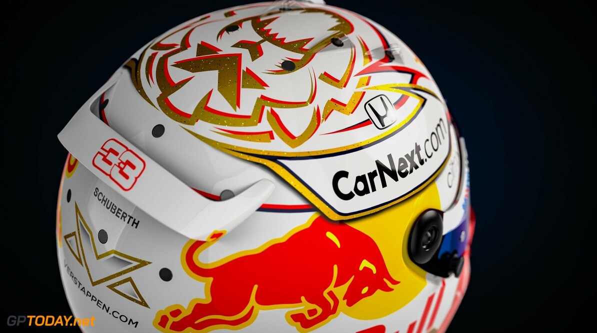 <b>Foto's:</b> De nieuwe helm van Max Verstappen in detail