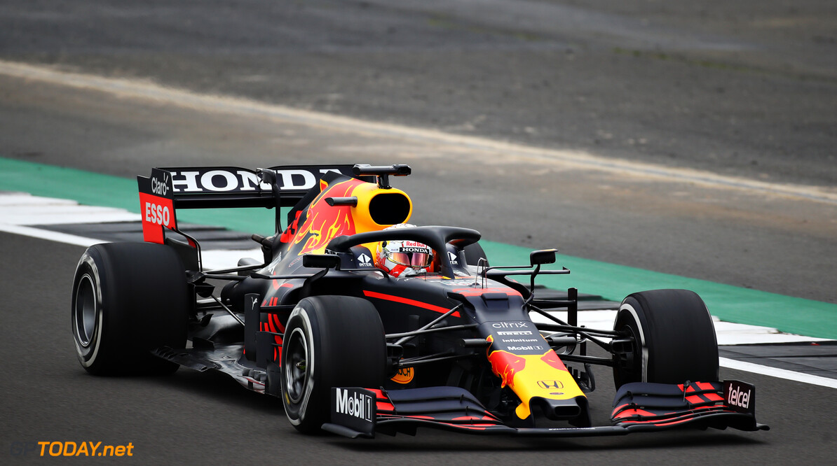 NORTHAMPTON, ENGLAND - FEBRUARY 24: Max Verstappen of Netherlands driving the Red Bull Racing RB15 Honda during the Red Bull Racing Filming Day at Silverstone on February 24, 2021 in Northampton, England. (Photo by Bryn Lennon/Getty Images for Red Bull Racing) // Getty Images / Red Bull Content Pool  // SI202102240198 // Usage for editorial use only //  Max Verstappen     SI202102240198