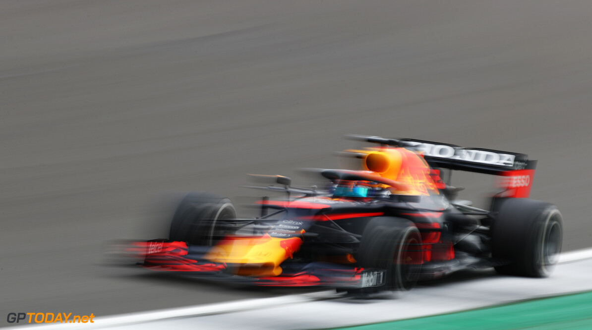 NORTHAMPTON, ENGLAND - FEBRUARY 24: Alexander Albon of Thailand driving the Red Bull Racing RB15 Honda during the Red Bull Racing Filming Day at Silverstone on February 24, 2021 in Northampton, England. (Photo by Bryn Lennon/Getty Images for Red Bull Racing) // Getty Images / Red Bull Content Pool  // SI202102240111 // Usage for editorial use only //  Alexander Albon     SI202102240111