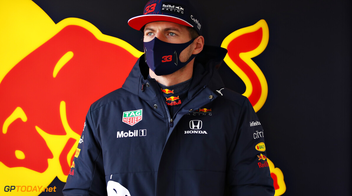 NORTHAMPTON, ENGLAND - FEBRUARY 24: Max Verstappen of Netherlands and Red Bull Racing looks on during the Red Bull Racing Filming Day at Silverstone on February 24, 2021 in Northampton, England. (Photo by Mark Thompson/Getty Images for Red Bull Racing) // Getty Images / Red Bull Content Pool  // SI202102240188 // Usage for editorial use only //  Max Verstappen     SI202102240188