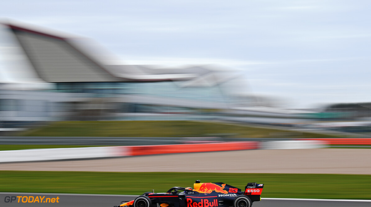 NORTHAMPTON, ENGLAND - FEBRUARY 24: Alexander Albon of Thailand driving the Red Bull Racing RB15 Honda during the Red Bull Racing Filming Day at Silverstone on February 24, 2021 in Northampton, England. (Photo by Clive Mason/Getty Images for Red Bull Racing) // Getty Images / Red Bull Content Pool  // SI202102240145 // Usage for editorial use only //  Alexander Albon     SI202102240145