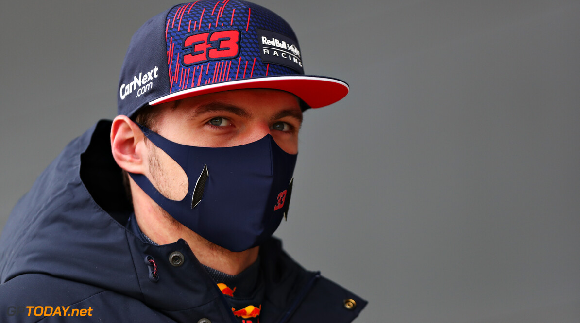 NORTHAMPTON, ENGLAND - FEBRUARY 24: Max Verstappen of Netherlands and Red Bull Racing looks on during the Red Bull Racing Filming Day at Silverstone on February 24, 2021 in Northampton, England. (Photo by Dan Istitene/Getty Images for Red Bull Racing) // Getty Images / Red Bull Content Pool  // SI202102240180 // Usage for editorial use only //  Max Verstappen     SI202102240180