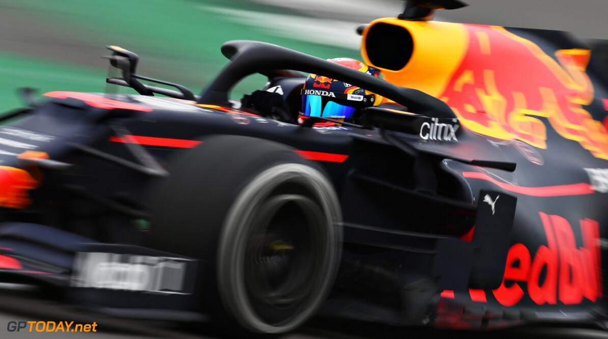 NORTHAMPTON, ENGLAND - FEBRUARY 24: Alexander Albon of Thailand driving the Red Bull Racing RB15 Honda during the Red Bull Racing Filming Day at Silverstone on February 24, 2021 in Northampton, England. (Photo by Clive Mason/Getty Images for Red Bull Racing) // Getty Images / Red Bull Content Pool  // SI202102240148 // Usage for editorial use only //  Alexander Albon     SI202102240148