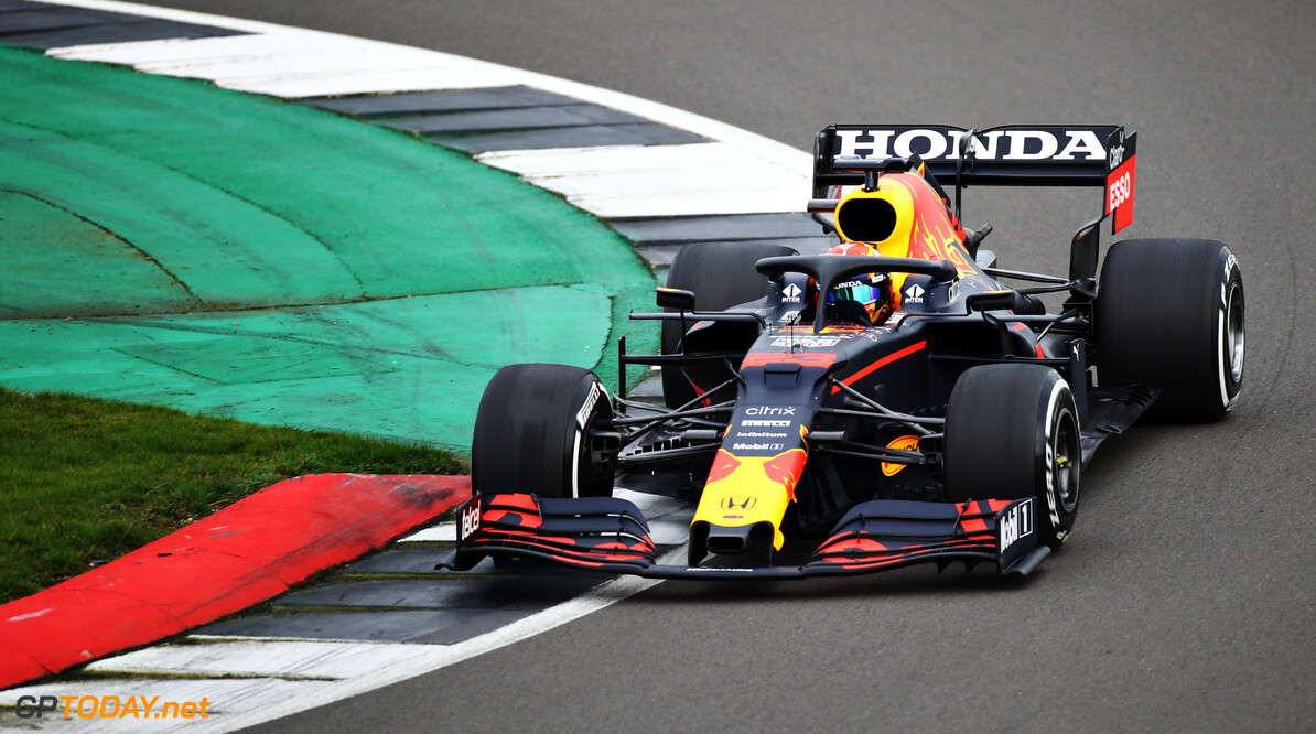 NORTHAMPTON, ENGLAND - FEBRUARY 24: Alexander Albon of Thailand driving the Red Bull Racing RB15 Honda during the Red Bull Racing Filming Day at Silverstone on February 24, 2021 in Northampton, England. (Photo by Bryn Lennon/Getty Images for Red Bull Racing) // Getty Images / Red Bull Content Pool  // SI202102240113 // Usage for editorial use only //  Alexander Albon     SI202102240113